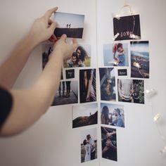 Photo Wall, Polaroid Film, Frame, Decor, Picture Frame, Photograph, Decoration, Decorating, Frames