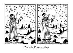 Gods verschijning aan Abraham en belofte - Zoek de 10 verschillen