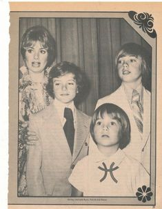 Shirley Jones & sons....young Shaun, Patrick, & Ryan Cassidy