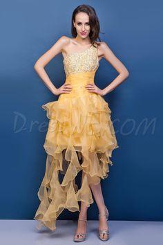 $85.09 Dresswe.comサプライ品優雅なワンショルダー膝丈非対称長レナータのウエディングドレス