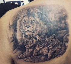 Like all other tattoos, it comes down to a matter of personal choice. Below, we are going to mention some lion family tattoo ideas. Tribal Lion Tattoo, Lion Head Tattoos, Mens Lion Tattoo, Leo Tattoos, Tiger Tattoo, Animal Tattoos, Skull Tattoos, Tatoos, Good Family Tattoo