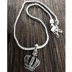 Checkout this amazing deal New Men's Collection Stainless Steel Crown Necklace,$14.95
