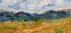 """Judith Babcock Artist-Original Palette Knife Mountain Landscape Painting """"Along The Trail 2"""" by Colorado Impressionist Judith Babcock-http://judithbabcockartist.blogspot.com/2015/02/original-palette-knife-mountain.html"""
