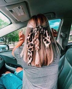 Scarf Hairstyles, Cute Hairstyles, School Hairstyles, Hairdos, Hair Inspo, Hair Inspiration, Aesthetic Hair, Hair Looks, New Hair