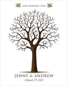 DIY - drzewko jako księga gości - do pobrania
