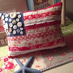 """""""hooray for making flag pillows and everything red white & blue this past month. ❤️⭐️  I hope you all have a safe & fabulous 4th of July weekend.…"""""""