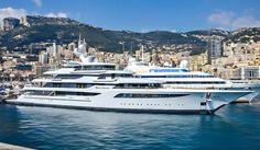 The beautiful @feadship #superyacht 92.5m #MYRoyalRomance spotted in #Monaco... www.horizonme.eu