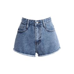 ROMWE | ROMWE Faded Pocketed Rolled Blue Shorts, The Latest Street Fashion