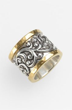 Lois Hill 'Repousse' Two Tone Cigar Band Ring available at #Nordstrom