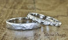 His and Her matching wedding bands by Ken & Dana Design