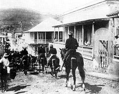 U.S. Cavalry passing through San German