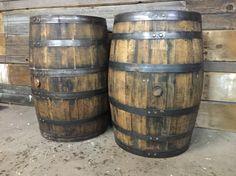 Vintage bourbon whiskey barrels.
