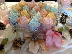 Pastel Christmas cupcakes--December 2015
