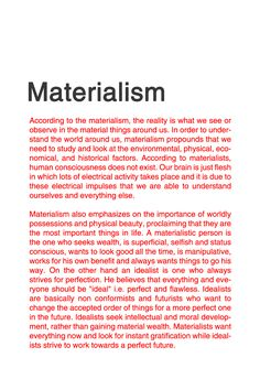 IDEALISM VS. MATERIALISM [3/3] #philosophy #typography #typographyposter #typographydesign
