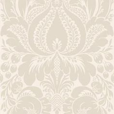 The Wallpaper Company 56 sq.ft. Greige Large Scale Damask Wallpaper - Model # WC1281855 at The Home Depot