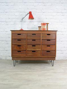 mid century art storage cabinet
