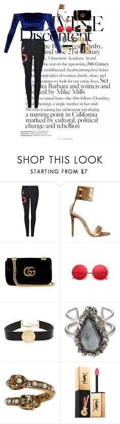 """""""Untitled #159"""" by xoutfiter ❤ liked on Polyvore featuring Gucci, Gianvito Rossi, Balmain, Alexander McQueen and Yves Saint Laurent"""
