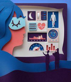 Paper-cut Illustration Casper Bed, Casper Mattress, Ny Times, New York Times, Sleep Studies, Paper Illustration, University Of Arizona, Paper Artist