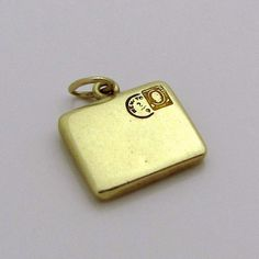 Vintage 14K Gold 3D Postal Mail Letter Charm w/New York Postage from charmalier on Ruby Lane