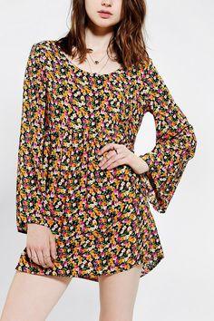 Urban Renewal Blossom Bell-Sleeve Dress