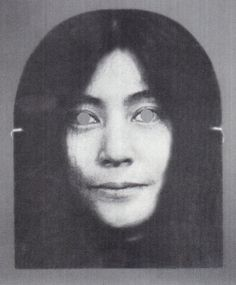 fuckyeahyokoono:  Scanned from YES YOKO ONO by Alexandra Munroe and Jon Hendricks Yoko Ono Mask by George Maciunas, 1970