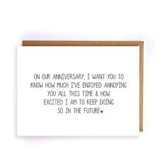 Funny anniversary gifts for boyfriend sarcastic anniversary cards funny anniversary card for him paper anniversary cards for husband cards for wife m4hsunfo
