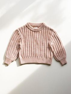 Marled knit sweater for children. Made with certified organic cotton, fully fashioned, quality, comfortable loungewear. Eco Clothing, Sustainable Clothing, Baby Sweaters, Lounge Wear, Organic Cotton, Girly, Turtle Neck, Orange, Sleeves