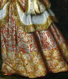 Marguerite Thérese en Costume de Théatre (Détail) Jan THomas 1667