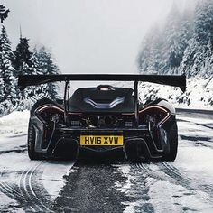 McLaren P1 LM in the snow