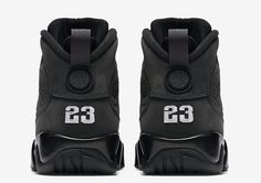 Mens Air Jordan 9 Commemorative Edition Black White shoes