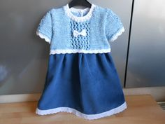 Baby Set, Baby Annabell, First Day Of Spring, What To Make, Put On, Pretty Dresses, Baby Dress, Hand Knitting, Short Sleeve Dresses