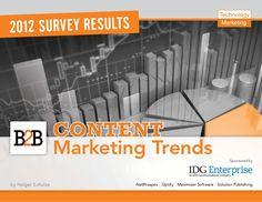 B2B Content Marketing Trenda by Holger Schulze via Slideshare, Sponsored by IDG Enterprise