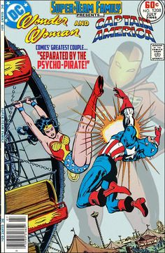 """Super-Team Family: The Lost Issues!: Wonder Woman and Captain America in """"Separated by the Psycho-Pirate!"""""""