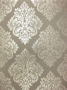 Damask Glitter Sparkle Charcoal Grey Gray Silver Wallpaper   eBay Silver Wallpaper, Damask Wallpaper, Wallpaper Decor, Home Wallpaper, Designer Wallpaper, Pattern Wallpaper, Wallpaper Backgrounds, Wallpapers, Wall Stencil Patterns