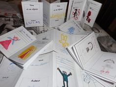 How to make playful writing production: mini books! Teaching French, Teaching Spanish, Teaching Reading, Teaching Kids, Kids Learning, Montessori, French Classroom, Special Kids, School