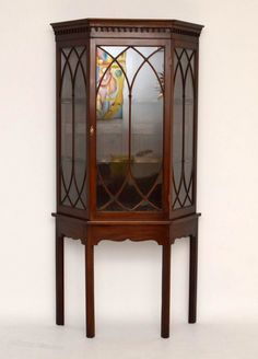 Antique Mahogany Display Cabinet On Stand - Antiques Atlas Antique Furniture, Home Furniture, Antique Display Cabinets, Storage Cabinets, Curio Cabinets, Cornice, Get Directions, Woodworking, Interior Design