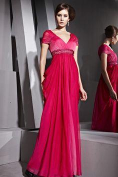 Short-Sleeves-Long-Formal-Dresses-