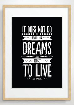 Dumbledore Quote Harry Potter Poster Print by POSTERED on Etsy, $15.00 AUD