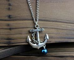 Navy anchor jewelry necklace - alloy necklace, chain body, the best gift of friendship