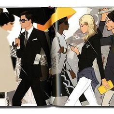 I'm still working hard on my illustrated New York book. I wish I could show you something but it's under wraps until next year. In the meantime here's a spread from my London book depicting the busy rush to work in the city. Hope you're having a great week!#city #sketchbook #london #illustration #fashionillustration #fashionillustrator #drawing #digital #artwork #art #artist #illustrator #inspiration