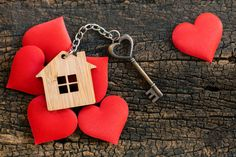 House key in heart shape with home keyring on old wood background decorated with mini heart - Buy this stock photo and explore similar images at Adobe Stock House Keys, Mini Heart, Wood Background, Old Wood, Happy Valentines Day, Heart Shapes, Personalized Items, Image House, Fun