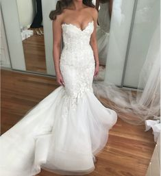 Elegant mermaid style wedding gowns can be produced by our firm in a price range that works for you.  We also make #replicas of couture #weddingdresses too for brides who love a couture style but the original is out of their price range.  For more info on inspired #dresses & custom designs email us directly.
