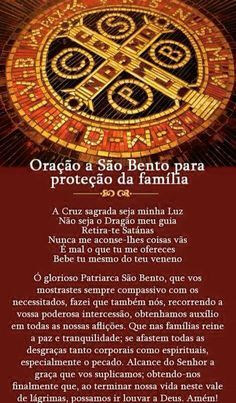 O Sagrado...  Oração de São Bento. Jesus Prayer, Spiritual Messages, Just Believe, Power Of Prayer, Quotes About God, Gods Love, Catholic, Namaste, Wicca