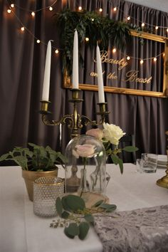 Wedding Beauty, Beauty And The Beast, Candles, Beast, Candy, Candle Sticks, Candle