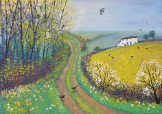 'And all the spring in this sweet lane is seen.' --- John Clare (Image: 'Spring Lane' by Jo Grundy)