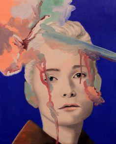 Andrea Castro – Textile Faces | purple woods