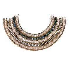 Folk Art Cleopatra Necklace - Made From 750 Safety Pins | From a unique collection of antique and modern more folk art at http://www.1stdibs.com/furniture/folk-art/more-folk-art/