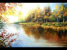 """Урок """"Лесное озеро"""" Часть 3. Живопись маслом Alla Prima. Painting class from Oleg Buiko - YouTube"""