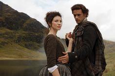 "Outlander Season 1 Pre Production Promo Stills ""Jamie & Claire"""