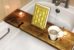 ** Please note, orders placed now will be made and dispatched in January 2018 ** Love a good long soak in the bath? Then you definitely need a bath board in your life! Made from chunky, sturdy repurposed timber, these are perfect for holding your glass of wine, mug of tea or